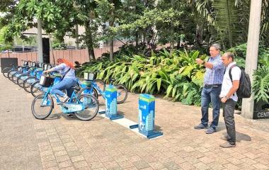 Visita al Sistema de Bicicletas Públicas En Cicla de Medellín