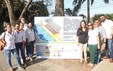 Inicia instalación de más de 600 paraderos para el SETP en Montería.